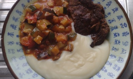 Braised Beef, Spicy Ratatouille & Mashed Potatoes
