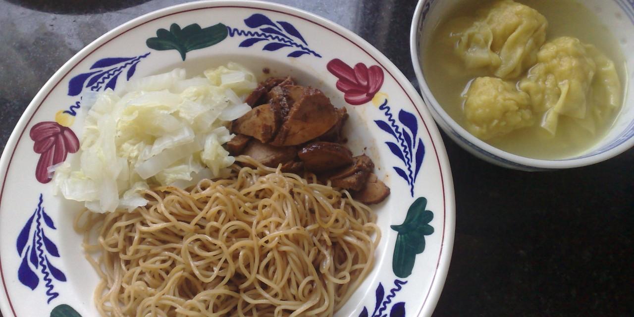 Wantan Noodles with Homemade Cha-Siu