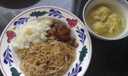 Wantan Noodles with Homemade Cha-Siu