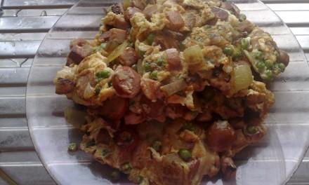 Luncheon Meat & Onions Omelette
