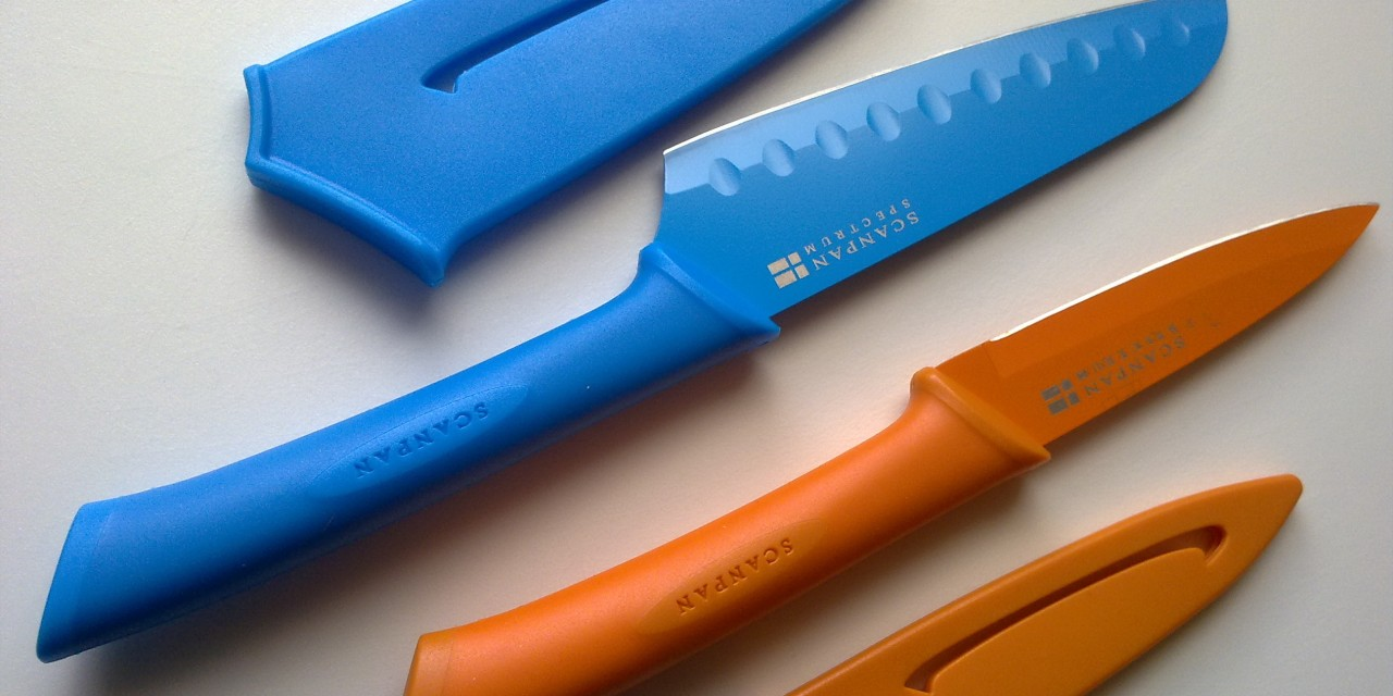 My New Colourful Knives with Sheaths