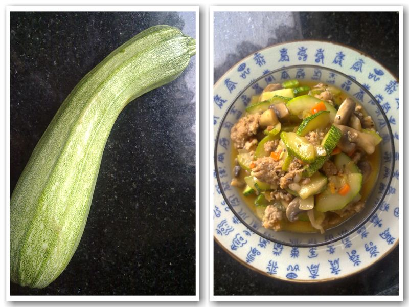 Courgette & Minced Meat Stirfry