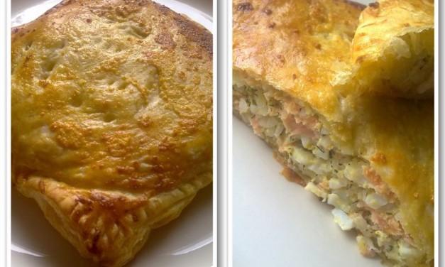 Koelebjaka S Sjomgoj  (Salmon Pie Russian-Style)