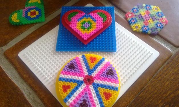 Homemade Colourful Coasters