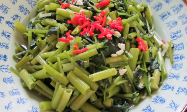 Stirfried Water Spinach with Garlic