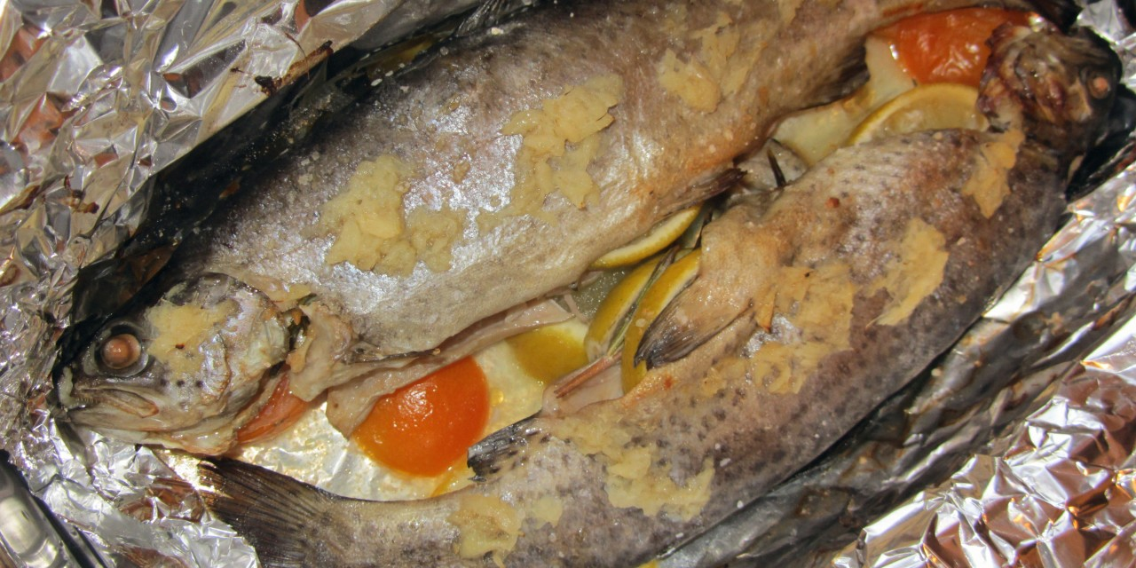 Baked Trout with Lime & Ginger