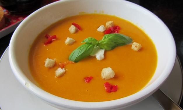 Pumpkin Soup with Chilli & Creme Fraiche
