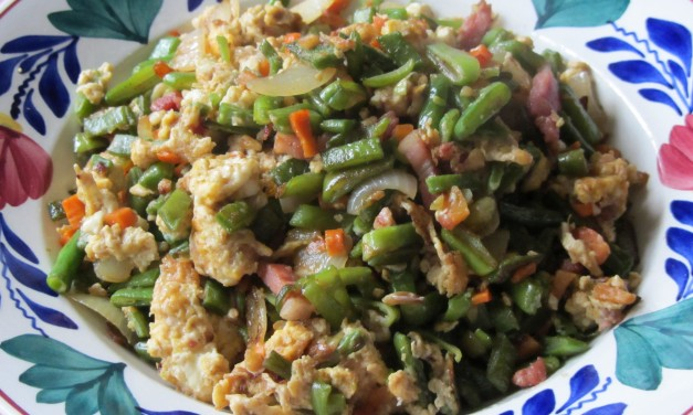 Stirfried Beans with Eggs