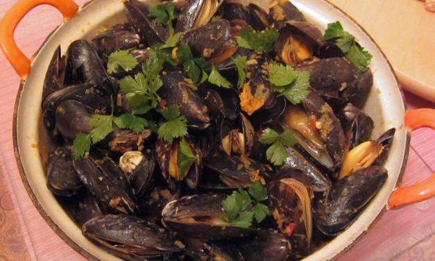 Mussels with Lemongrass & Basil