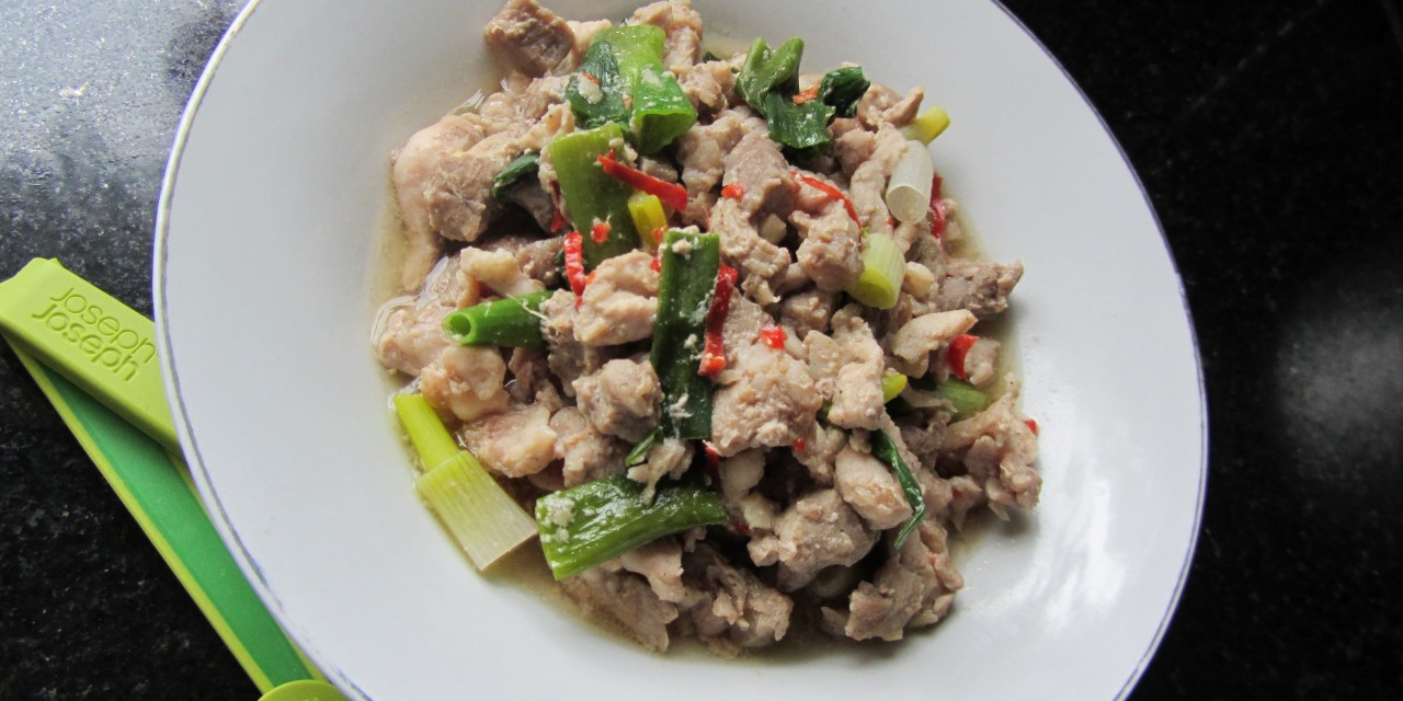 Chicken with Spring Onions & Ginger