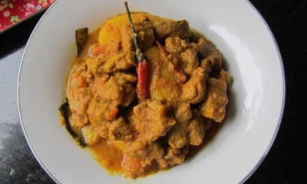 Dry Pork & Potato Masala