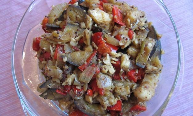 Fish & Aubergine in Spices