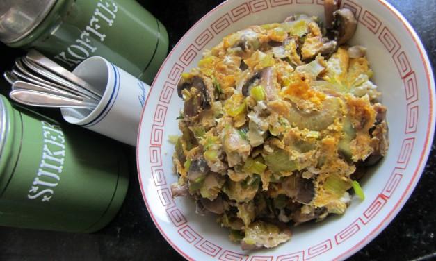 Leek & Mushroom Omelette