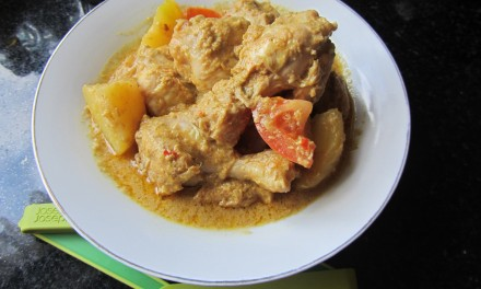 Kari Ayam  (Mild Malaysian Chicken Curry)