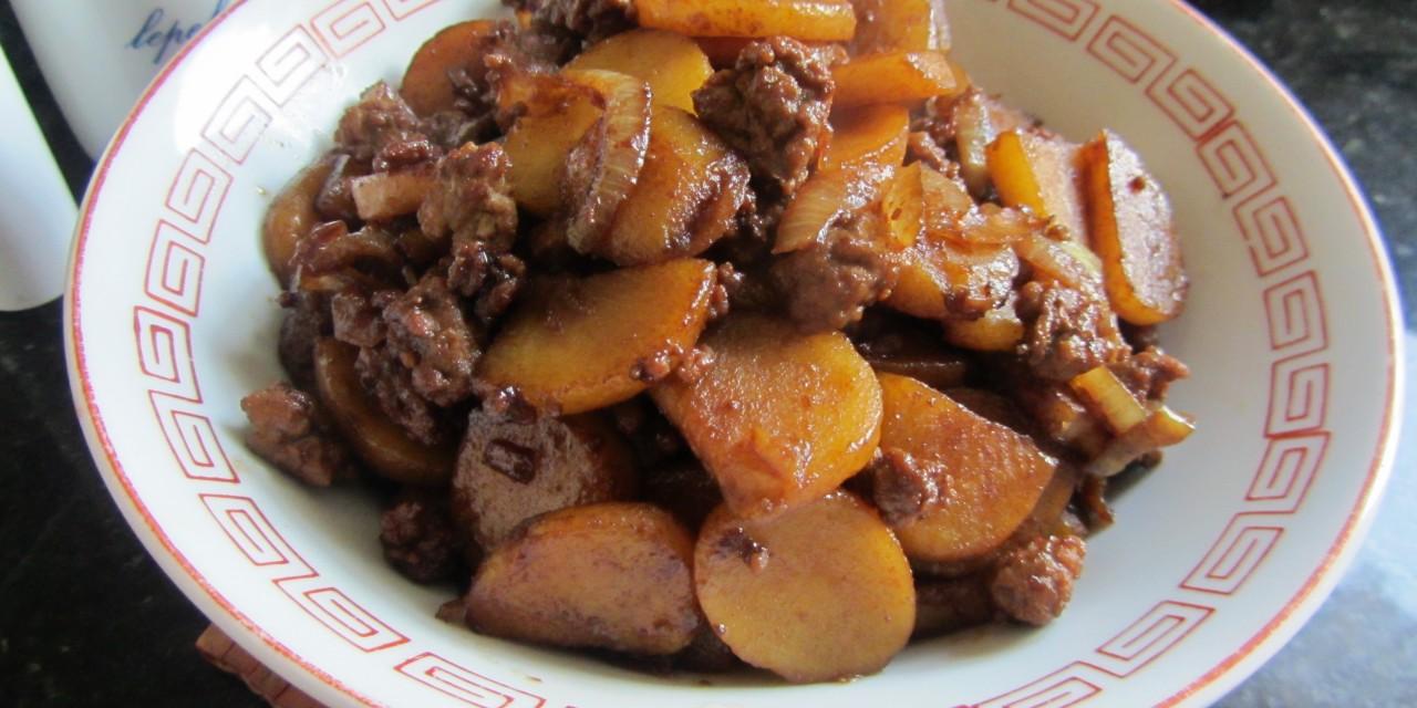 Potato & Minced Meat in Sweet Soy Sauce  (Bak Chian)