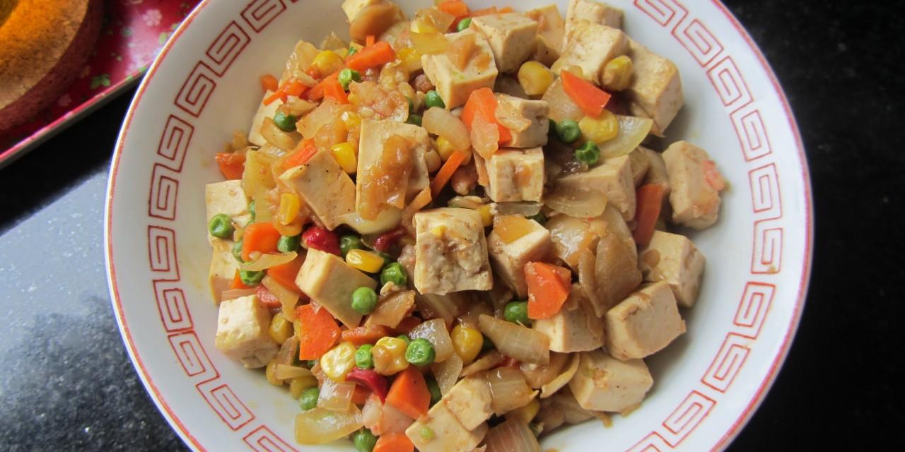 Tofu & Mixed Vegetables Stirfry