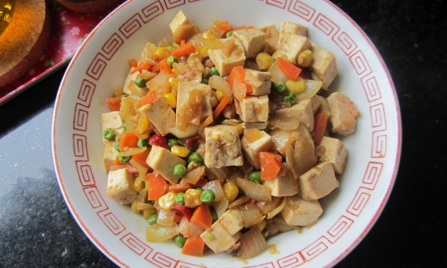 Tofu & Mixed Vegetables Stirfry
