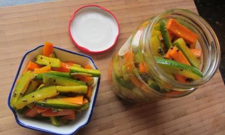 Cucumber & Carrot Pickle  (Acar Timun)