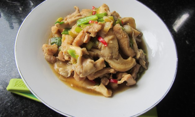 Gingery Oyster Mushrooms & Chicken