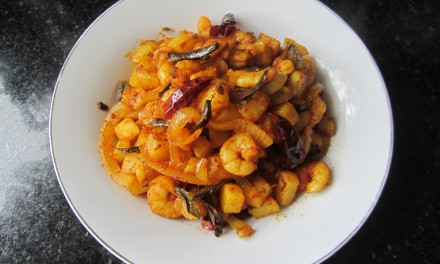 Prawn & Potato Chilli Dry-Fry