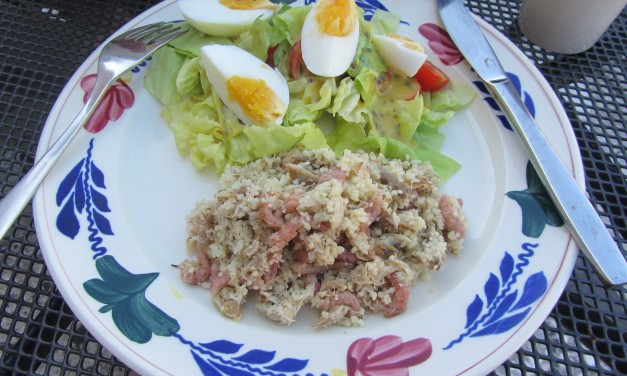 Mackerel Shrimp CousCous Salad