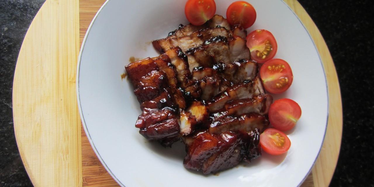 "Cheat's Cha-Siu  (Palm Sugar ""BBQ-ed"" Pork)"