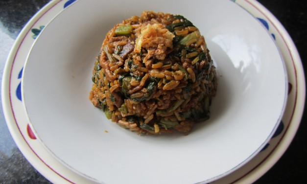 Yin Choi Fan  (Chinese Spinach Rice)