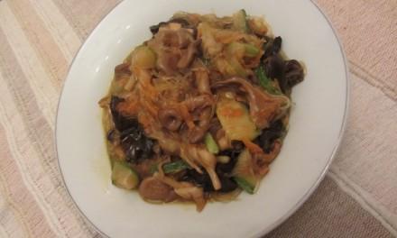 Braised Assorted Mushrooms, Lilybuds & Bean Vermicelli