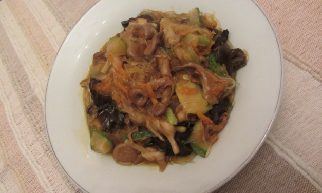Braised Assorted Mushrooms, Lilybuds & Bean Vermicelli