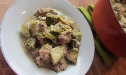 Pear & Mustard Pork  (Porc à la Moutarde & Aux Poires)