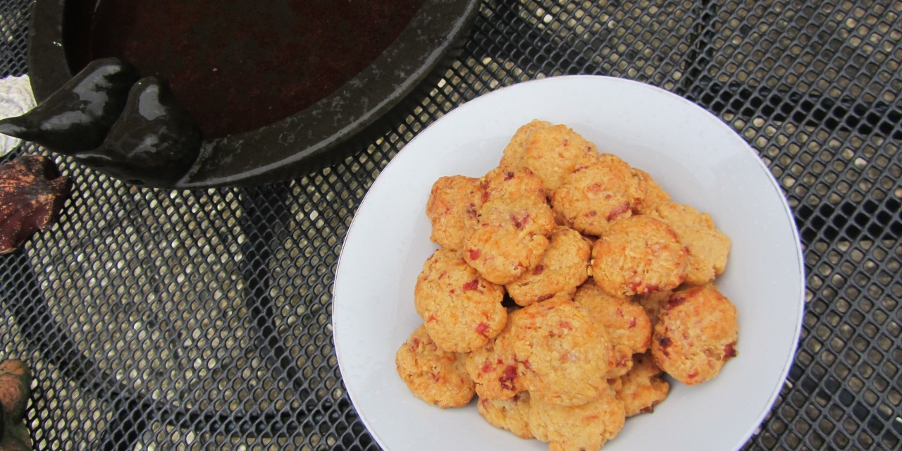 Goat's Cheese & Bacon Biscuits