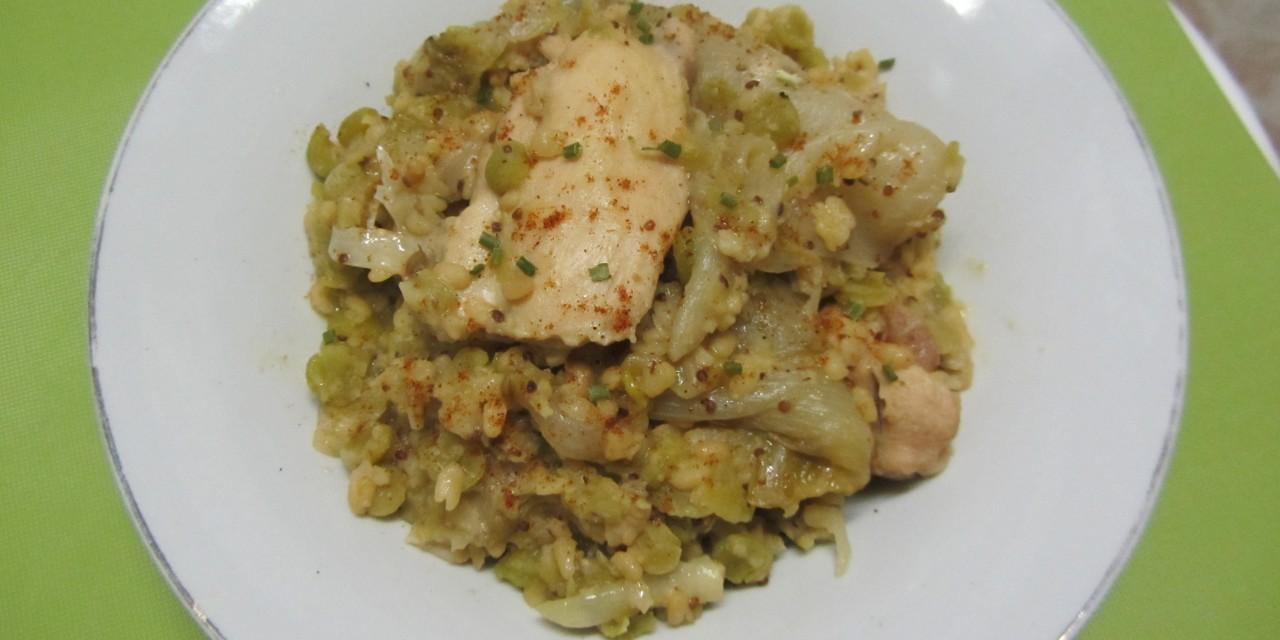 Braised Chicken, Lentils & Chicory