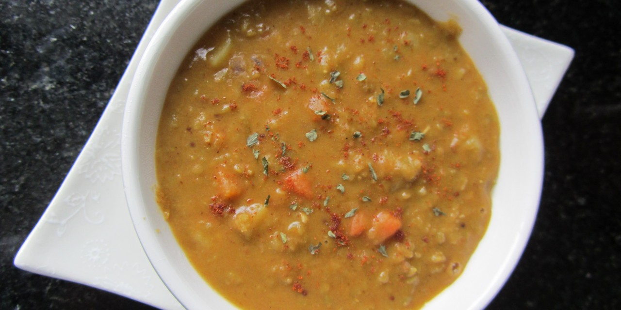 Spicy Green Lentil Soup
