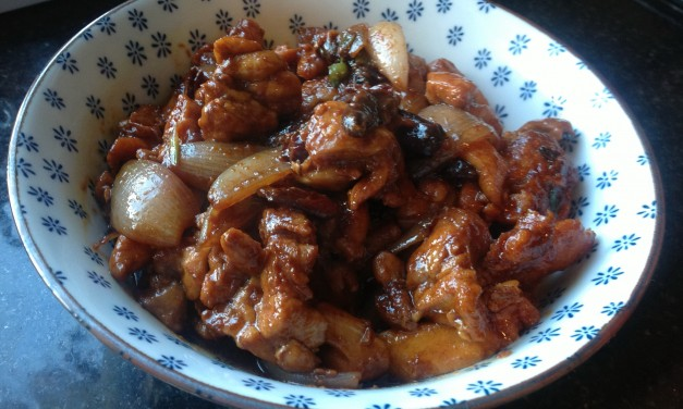 Stirfried Chicken with Dried Chillies