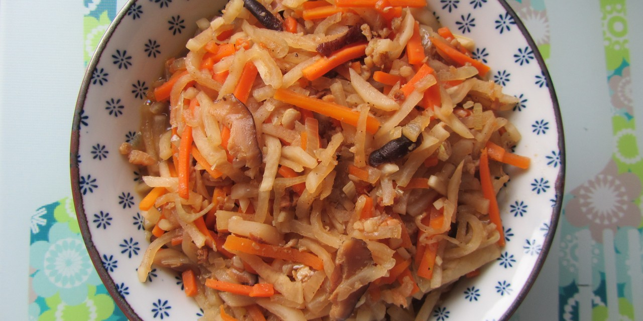 "Stirfried Turnip & Carrot ala ""Jiu-Hu-Char"""