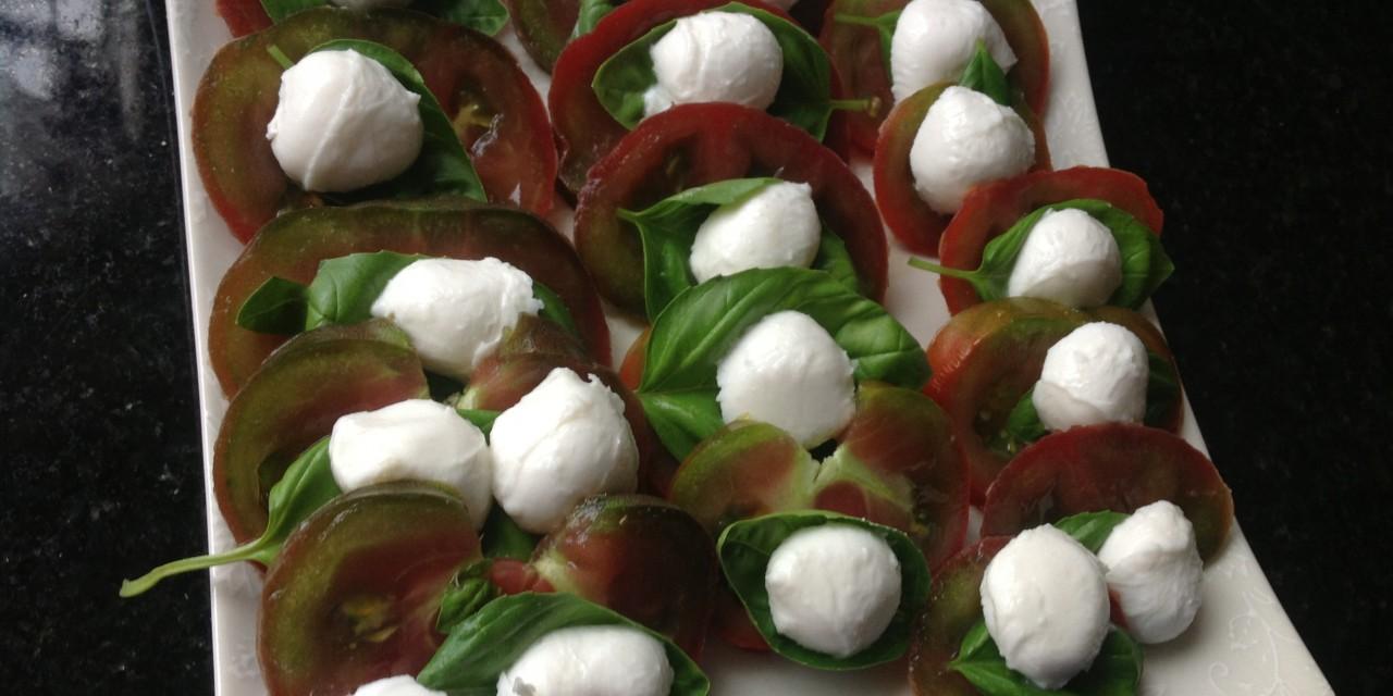 Black Russian Tomatoes Caprese Salad