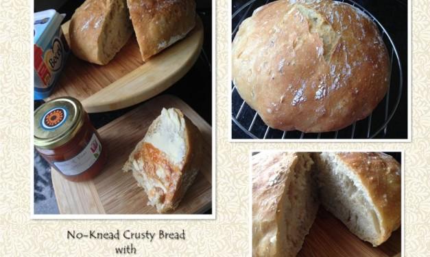 No-Knead Crusty Bread