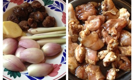 Braised Chicken & Chestnuts with Lemongrass