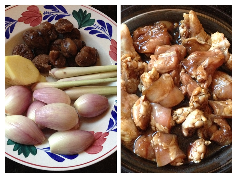 Braised Chicken & Chestnuts with Lemongrass