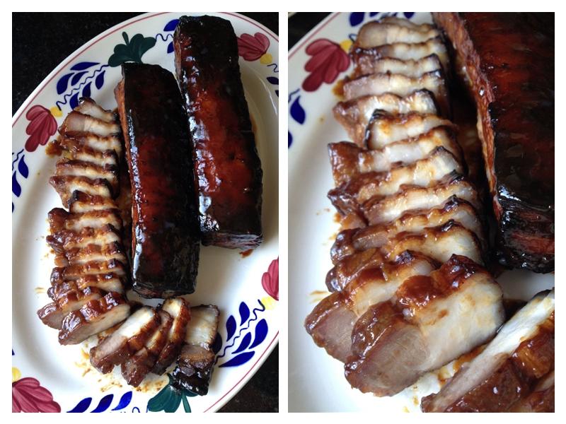 """Pork Belly Cha-Siu  (""""BBq-ed"""" Pork)"""