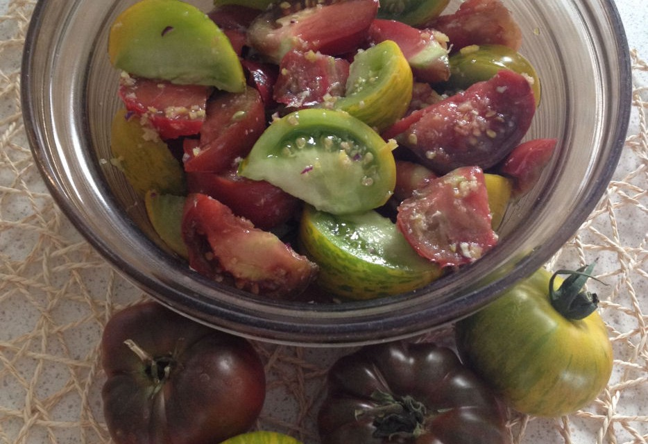 Spiced Heirloom Tomato Salad