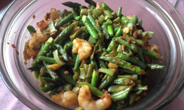 Green Asparagus & Prawn Sambal Belacan Stirfry